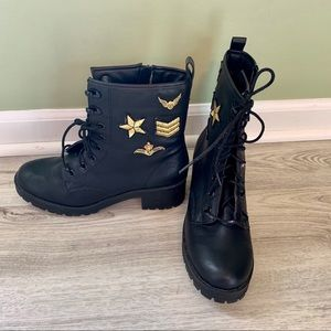 Madden Girl Military Style Combat Boots, Size 7.5
